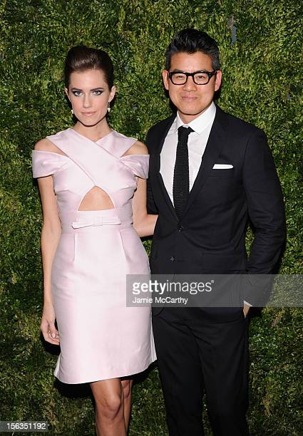 Designer Peter Som and Allison Williams attends The Ninth Annual CFDA/Vogue Fashion Fund Awards at 548 West 22nd Street on November 13 2012 in New...