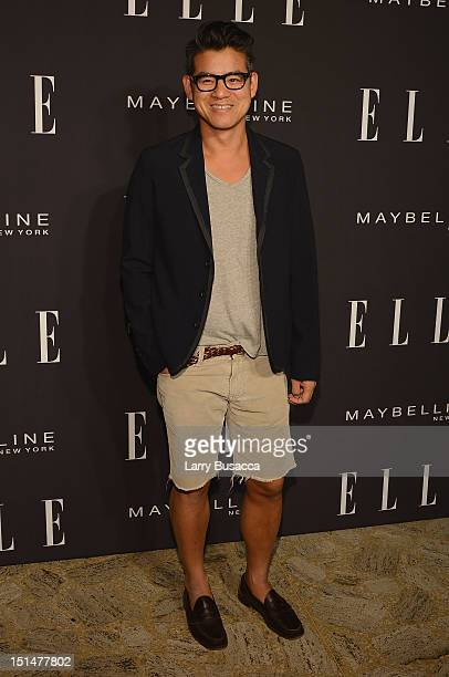 Designer Peter Som arrives at the Elle Fashion | Next Runway Show during the Spring 2013 MercedesBenz Fashion Week at David H Koch Theater Lincoln...