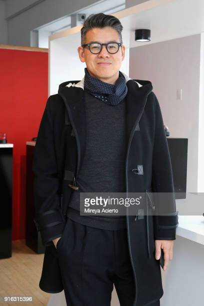 Designer Peter Som attends the Paul Andrew presentation during New York Fashion Week The Shows at Ramscale Studio on February 9 2018 in New York City
