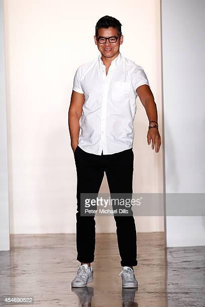 Designer Peter Som walks the runway at the Peter Som fashion show during MercedesBenz Fashion Week Spring 2015 at Milk Studios on September 5 2014 in...