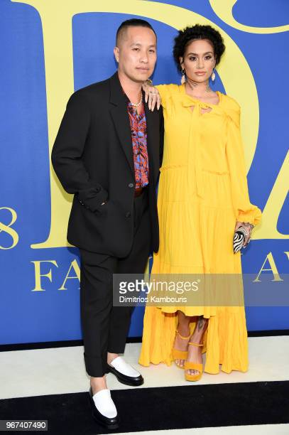 Designer Philip Lim and Kehlani attend the 2018 CFDA Fashion Awards at Brooklyn Museum on June 4 2018 in New York City