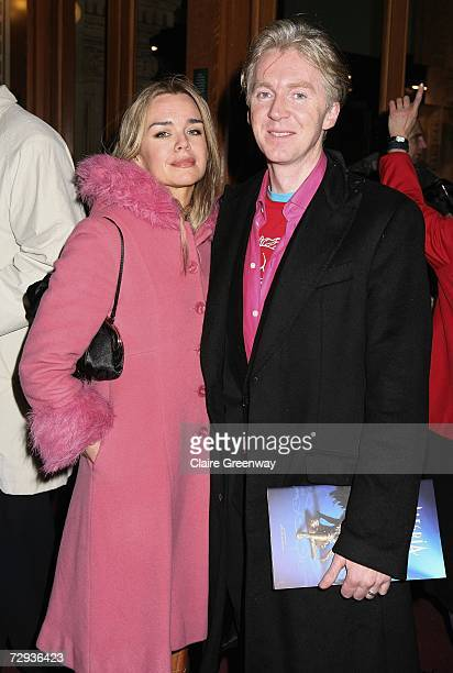 Designer Philip Treacy and his guest Lisa Sexton arrive at the VIP performance of Cirque Du Soleil's 'Alegria' at Royal Albert Hall on January 5 2007...