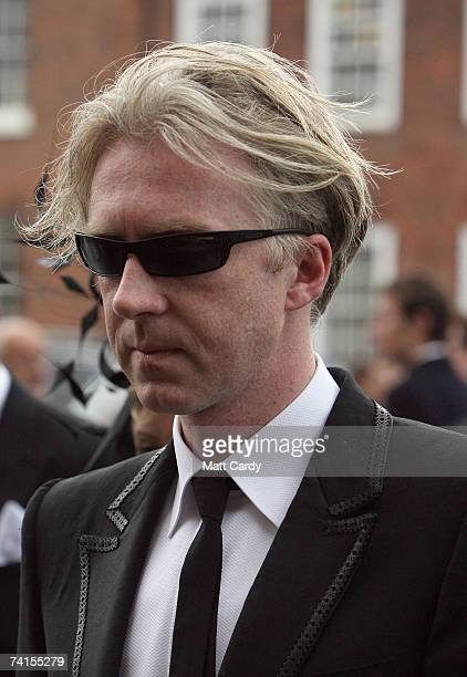 Designer Philip Treacy arrives at the funeral service for fashion stylist Isabella Blow at Gloucester Cathedral on May 15 2007 in Gloucester England...