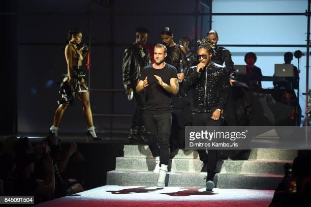 Designer Philipp Plein and Future walk the runway at the Philipp Plein fashion show during New York Fashion Week The Shows at Hammerstein Ballroom on...