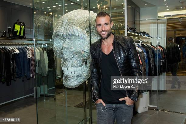Designer Philipp Plein poses for media before the Philipp Plein S/S 2014 Collection at Lotte Department Store on March 11 2014 in Seoul South Korea