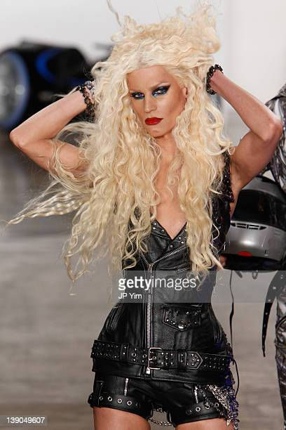 Designer Phillip Blond walks the runway at the The Blonds Fall 2012 fashion show during Mercedes-Benz Fashion Week at Milk Studios on February 15,...