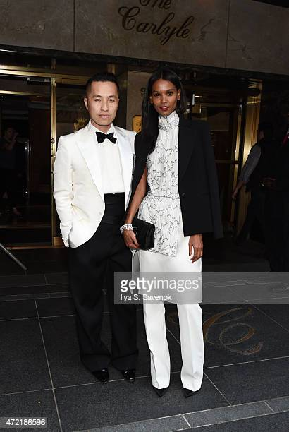 Designer Phillip Lim and model Liya Kebede depart for the MET Gala 2015 from The Carlyle on May 4, 2015 in New York City.