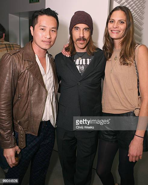 Designer Phillip Lim Anthony Kiedis and model Frankie Rayder attend the 31 Phillip Lim Men's Fall 2010 preview dinner on May 11 2010 in West...