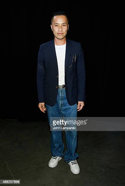 Designer Phillip Lim attends the Phillip Lim collection during Spring 2016 New York Fashion Week at Pier 94 on September 14, 2015 in New York City.