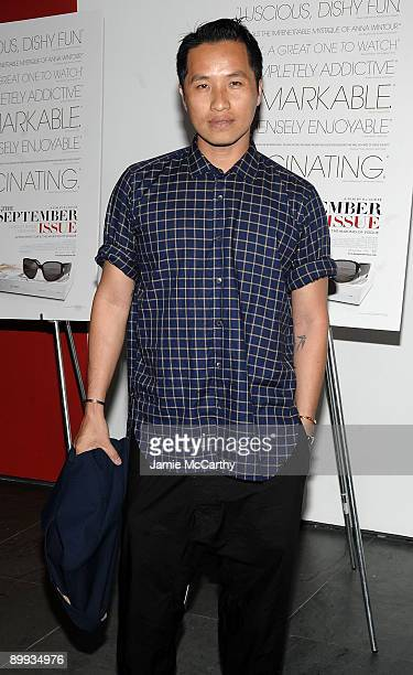 """Designer Phillip Lim attends the premiere of """"The September Issue"""" at The Museum of Modern Art on August 19, 2009 in New York City."""