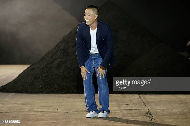 Designer Phillip Lim walks the runway at the 3.1 Phillip Lim Spring 2016 show during New York Fashion Week at Pier 94 on September 14, 2015 in New...