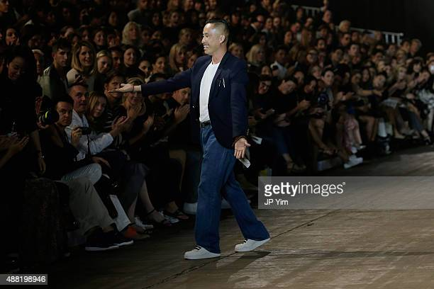 Designer Phillip Lim walks the runway at the 31 Phillip Lim Spring 2016 show during New York Fashion Week at Pier 94 on September 14 2015 in New York...