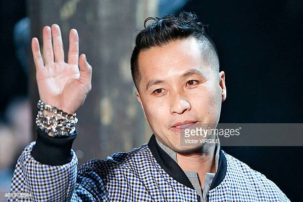 Designer Phillip Lim walks the runway during the 31 Phillip Lim Menswear Fall/Winter 20152016 show as part of Paris Fashion Week on January 22 2015...
