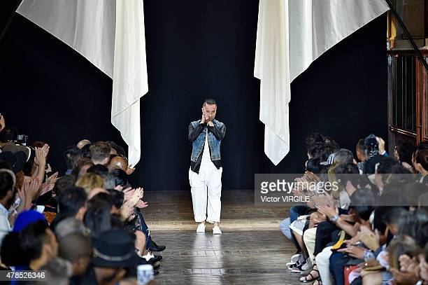 Designer Phillip Lim walks the runway during the 31 Phillip Lim Ready to Wear Menswear Spring/Summer 2016 show as part of Paris Fashion Week on June...