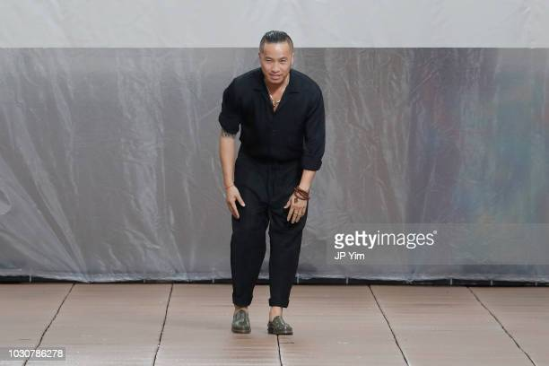 Designer Phillip Lim walks the runway for 3.1 Phillip Lim during New York Fashion Week at New Design High School on September 10, 2018 in New York...
