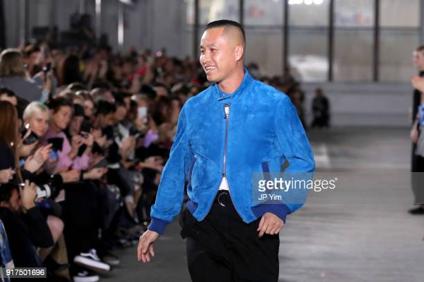 Designer Phillip Lim walks the runway for 31 Phillip Lim during New York Fashion Week The Shows at Skylight Clarkson North on February 12 2018 in New...