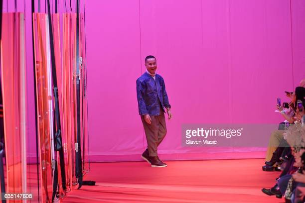 Designer Phillip Lim walks the runway for the 31 Phillip Lim collection during New York Fashion Week The Shows at Spring Studios on February 13 2017...