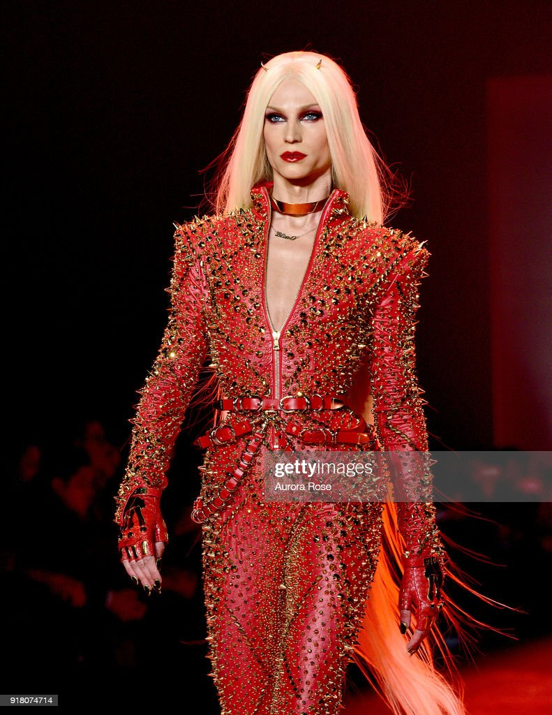 Designer Phillipe Blond opens his show for The Blonds at Spring Studios on February 13, 2018 in New York City.