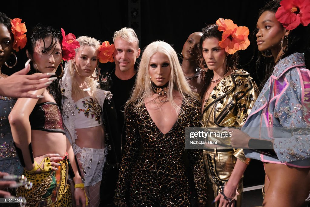 Designer Phillipe Blond poses backstage for The Blonds fashion show during New York Fashion Week: The Shows at Gallery 1, Skylight Clarkson Sq on September 12, 2017 in New York City.