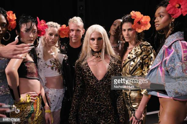 Designer Phillipe Blond poses backstage for The Blonds fashion show during New York Fashion Week The Shows at Gallery 1 Skylight Clarkson Sq on...