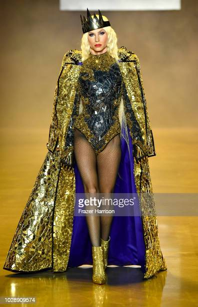Designer Phillipe Blond walks the runway at the Disney Villains x The Blonds NYFW Show during New York Fashion Week The Shows at Gallery I at Spring...