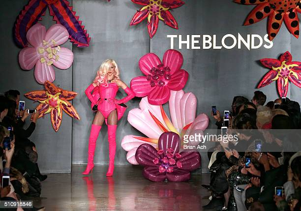 Designer Phillipe Blond walks the runway duringThe Blonds runway show during Fall 2016 MADE Fashion Week at Milk Studios on February 17 2016 in New...