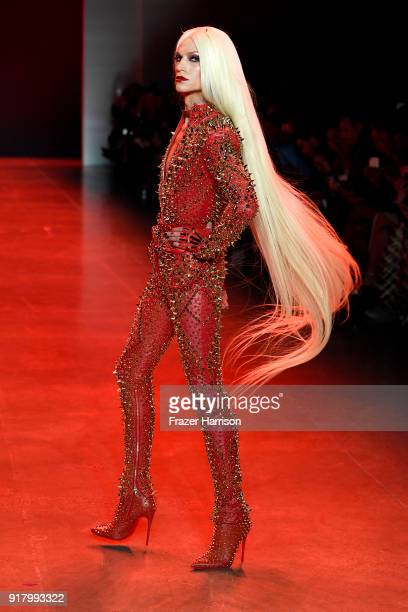 Designer Phillipe Blond walks the runway for The Blonds during New York Fashion Week The Shows at Gallery I at Spring Studios on February 13 2018 in...