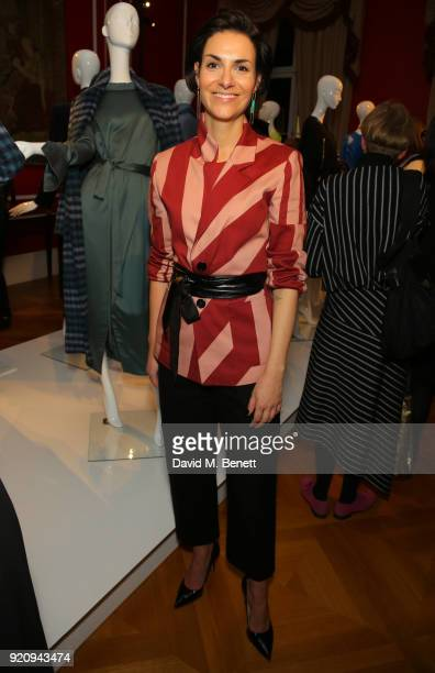 Designer Philomena Zanetti attends 'An Evening of German Fashion' at the German Embassy on February 19 2018 in London England