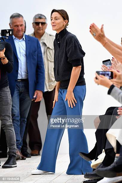Designer Phoebe Philo is seen on the runway during the Celine show as part of the Paris Fashion Week Womenswear Spring/Summer 2017 on October 2 2016...