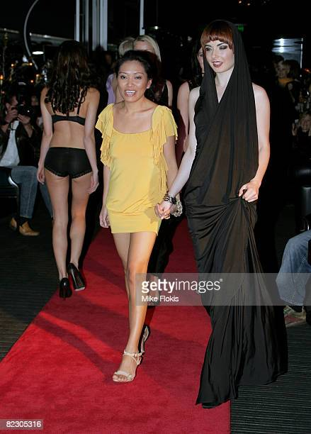 Designer Pia Gladys Perey showcases designs by White Kitten and Femina's as part of the inaugural Rosemount Sydney Fashion Festival 2008 in the Piano...