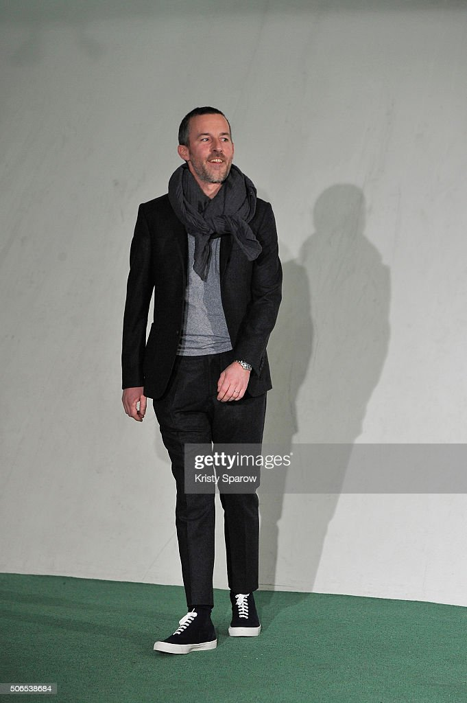 Designer Pierre Maheo during the Officine Generale Menswear Fall/Winter 2016-2017 show as part of Paris Fashion Week on January 24, 2016 in Paris, France.