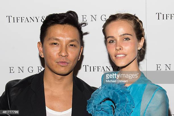 Designer Prabal Gurung and actress Isabel Lucas attend the 'Engram' screening at the Celeste Bartos Theater at the Museum of Modern Art on March 31...