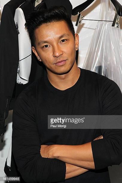 Designer Prabal Gurung backstage at ICB By Prabal Gurung during Fall 2013 Mercedes-Benz Fashion Week at The Studio at Lincoln Center on February 11,...
