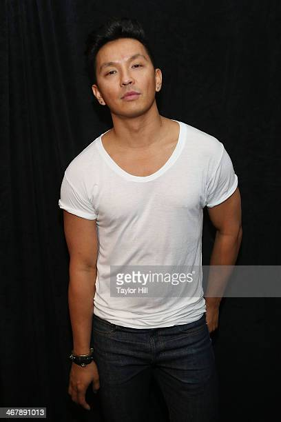 Designer Prabal Gurung backstage at the Prabal Gurung Fall 2014 fashion show at Skylight at Moynihan Station on February 8 2014 in New York City