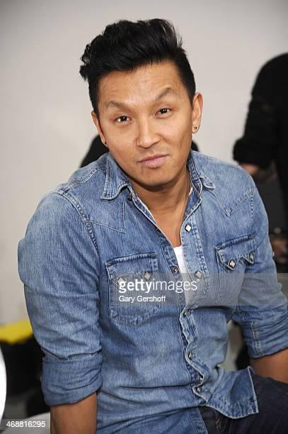 Designer Prabal Gurung poses backstage at the ICB By Prabal Gurung Show during Mercedes-Benz Fashion Week Fall 2014 at Eyebeam on February 11, 2014...