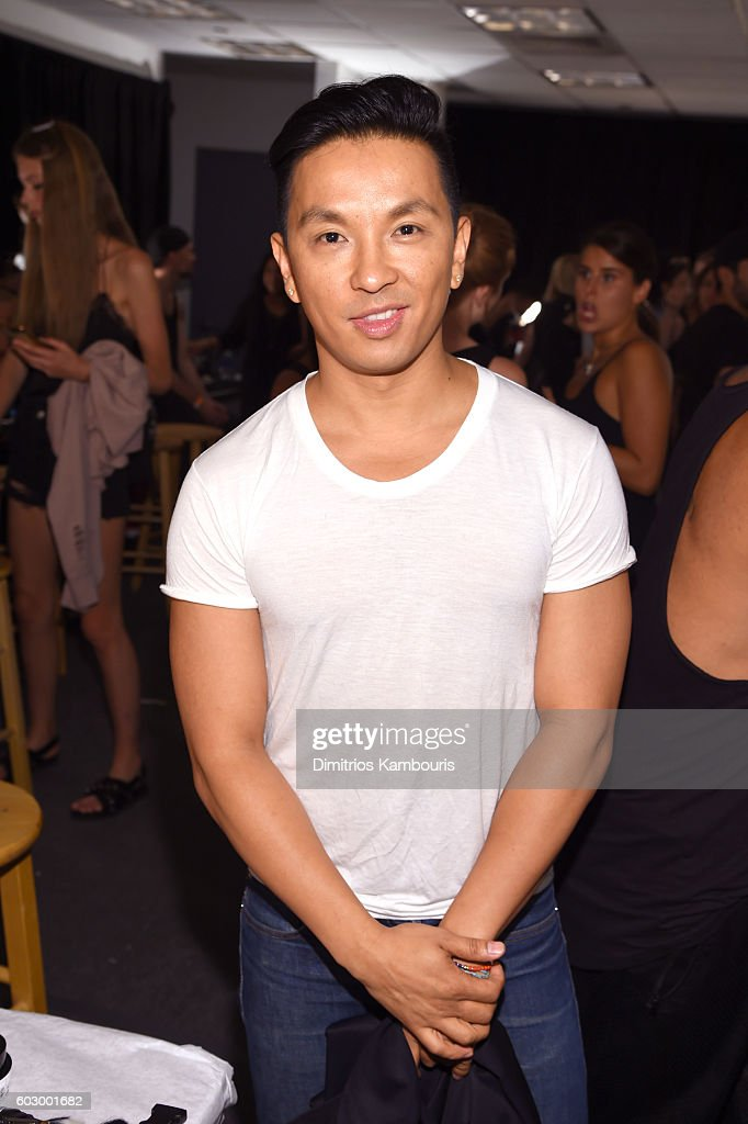 Designer Prabal Gurung prepares backstage at the Prabal Gurung fashion show during New York Fashion Week: The Shows September 2016 at The Gallery, Skylight at Clarkson Sq on September 11, 2016 in New York City.