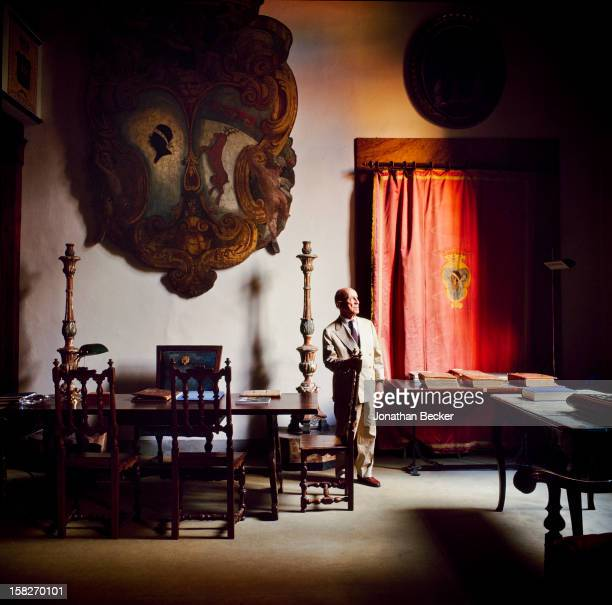 Designer Puccio Pucci is photograhed for Vanity Fair Magazine on July 27, 2000 in the Palazzo Pucci on the Via dei Pucci in Florence, Italy....