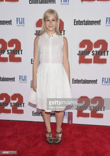 """Designer Rachel Antonoff attends the """"22 Jump Street"""" premiere at AMC Lincoln Square Theater on June 4, 2014 in New York City."""