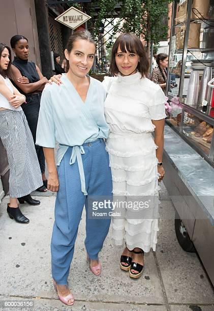 Designer Rachel Comey and actress Rashida Jones pose at the Rachel Comey fashion show during New York Fashion Week September 2016 on September 7 2016...