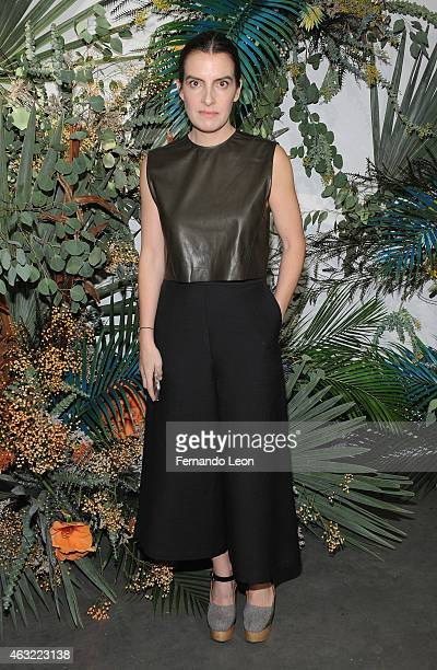 Designer Rachel Comey attends the Rachel Comey fashion show at Pioneer Works Center for Arts Innovation during MercedesBenz Fashion Week on February...