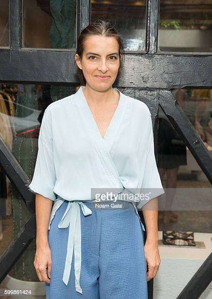 Designer Rachel Comey poses at the Rachel Comey fashion show during New York Fashion Week September 2016 on September 7 2016 in New York City