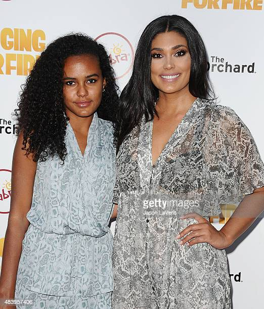 Designer Rachel Roy and daughter Ava Dash attend the premiere of Digging For Fire at ArcLight Cinemas on August 13 2015 in Hollywood California