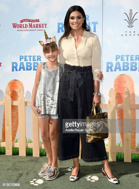 Designer Rachel Roy and daughter Tallulah Ruth Dash attend the Los Angeles Premiere of 'Peter Rabbit' at The Grove on February 3 2018 in Los Angeles...