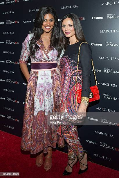 Designer Rachel Roy and Designer / Director Georgina Chapman attend the 'A Dream Of Flying' Project Imaginat10n special screening at Crosby Street...