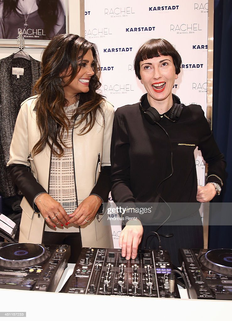 Designer Rachel Roy (L) and DJ Eva Be. attend the Rachel Roy collection presentation at Karstadt on November 21, 2013 in Hamburg, Germany.