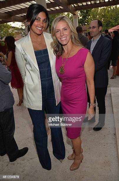 Designer Rachel Roy and Jane Buckingham attend a reception to celebrate Rashida Jones' New Glamour Column hosted by Cindi Leive and Jane Buckingham...