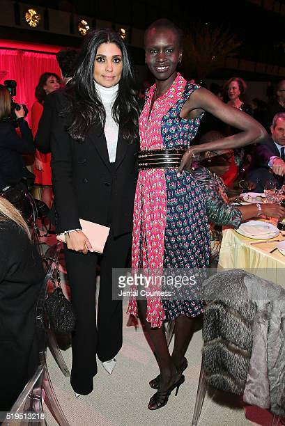 Designer Rachel Roy and model Alek Wek attend Tina Brown's 7th Annual Women In The World Summit VIP Dinner at David H. Koch Theater at Lincoln Center...