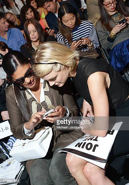 Designer Rachel Roy and model Jessica Stam attend the Supima Spring 2014 fashion show during MercedesBenz Fashion Week at The Studio at Lincoln...