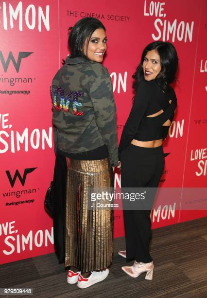 Designer Rachel Roy and Shadi Mehraein pose for a photo at the screening of 'Love Simon' hosted by 20th Century Fox Wingman at The Landmark at 57...