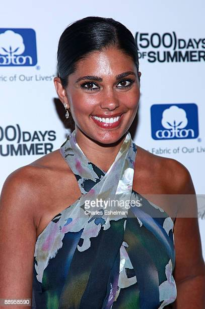 Designer Rachel Roy attends a screening of '500 Days of Summer' hosted by the Cinema Society with Brooks Brothers Cotton at the Tribeca Grand...